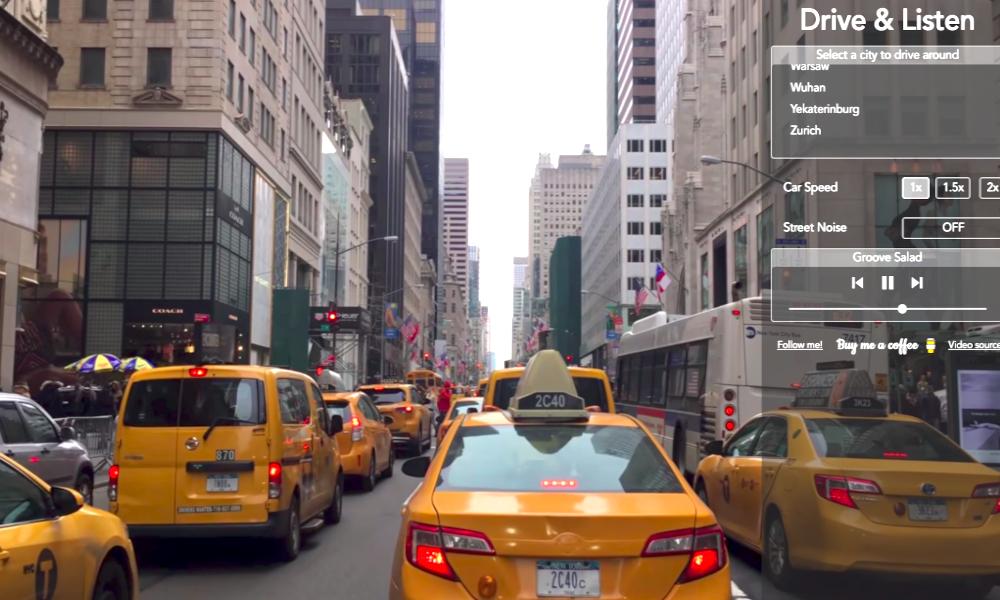 Marre du confinement ?Ce site permet de conduire virtuellement dans 50 villes du globe