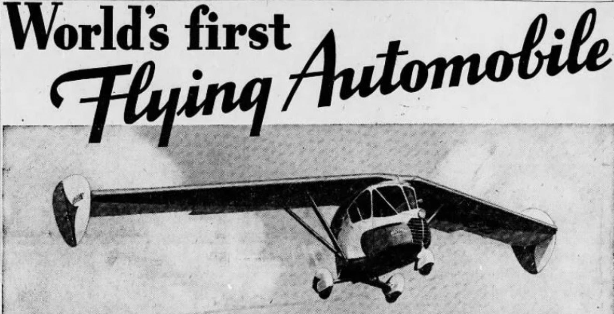 En 1934, Waldo Waterman construisait la première voiture volante