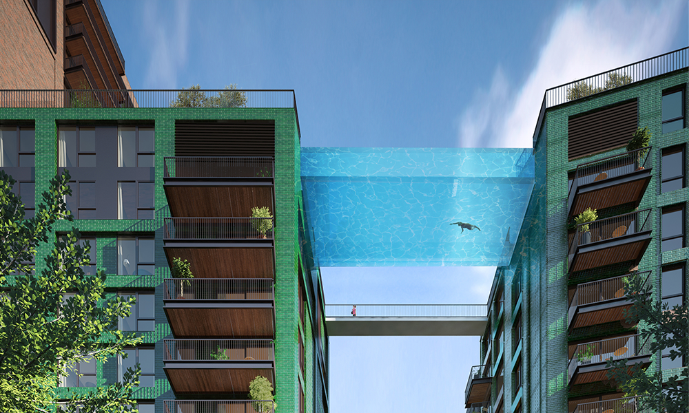 Grâce à cette piscine suspendue, les Anglais pourront bientôt nager dans le ciel